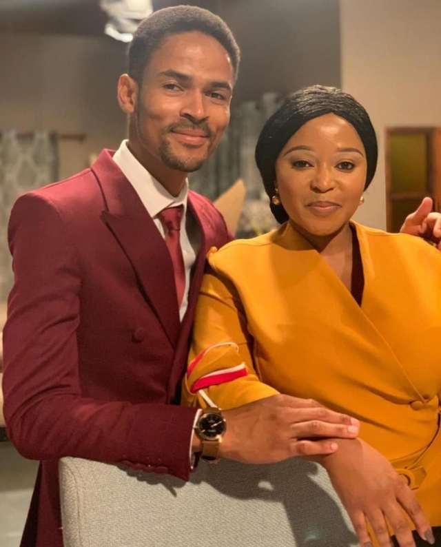 One of Skeem Saam's most celebrated couple Pebetsi Matlaila shows love to her on-Screen Husband Eric Macheru