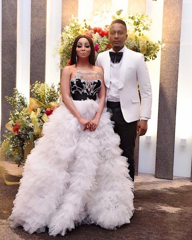 Khanyi Mbau's showed love in sweet birthday message to her bae Tebogo Lerole