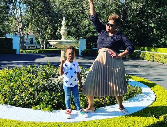 Anele Mdoda gushes over her son as he attends his first day of school