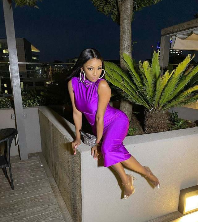 Bonang Matheba back on social media with beautiful pictures