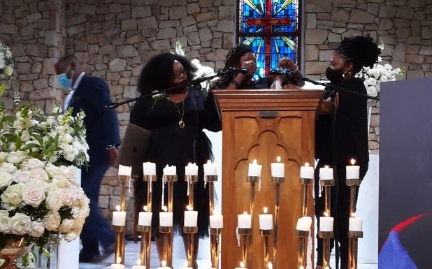 Friends and family bid farewell to Dorah Sitole in an emotional ceremony