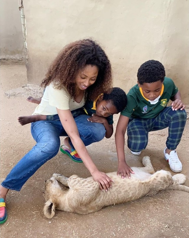 Pics: Actress Enhle Mbali's parenting ability questioned