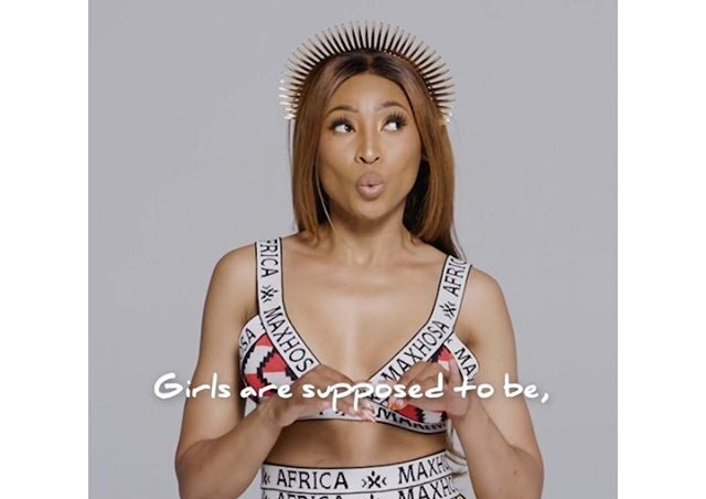 Enhle Mbali shocks Mzansi with her singing skills – Video