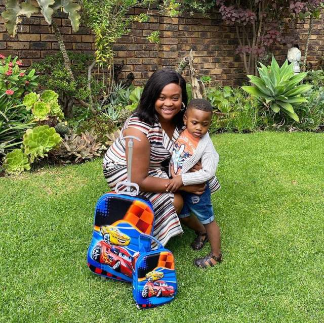 TV presenter Kayise Ngqula emotional on son's first day at school