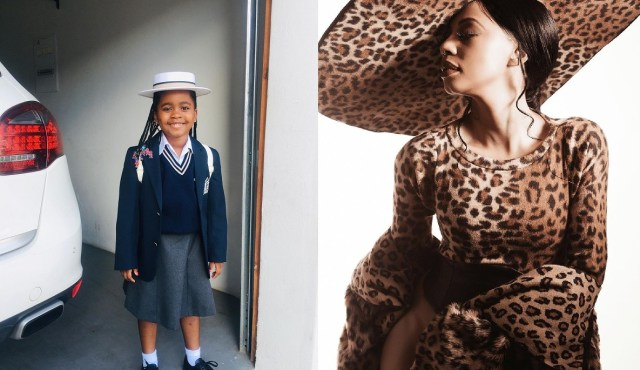 Pics: Kelly Khumalo gushes over her daughter's first day at school