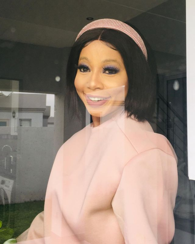 Kelly Khumalo gushes over her son for complimenting her look