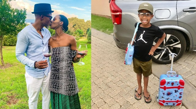 Lesego Tshepang gushes over her son as he starts grade
