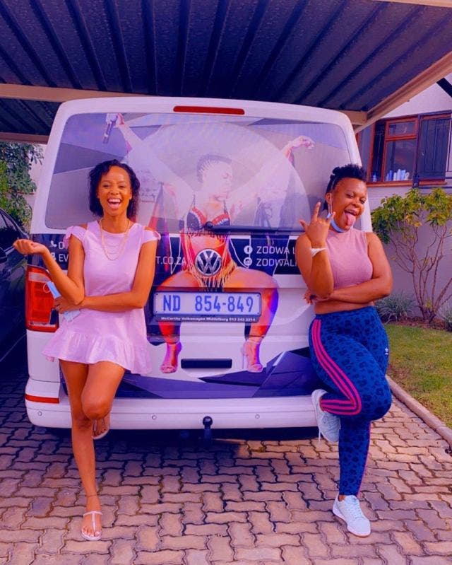 Watch: Ntando Duma supports Zodwa Wabantu's chicken and egg business