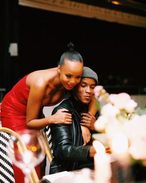 Ntando Duma calls a fan crazy for saying she is dating Sicelo Buthelezi aka Teddy