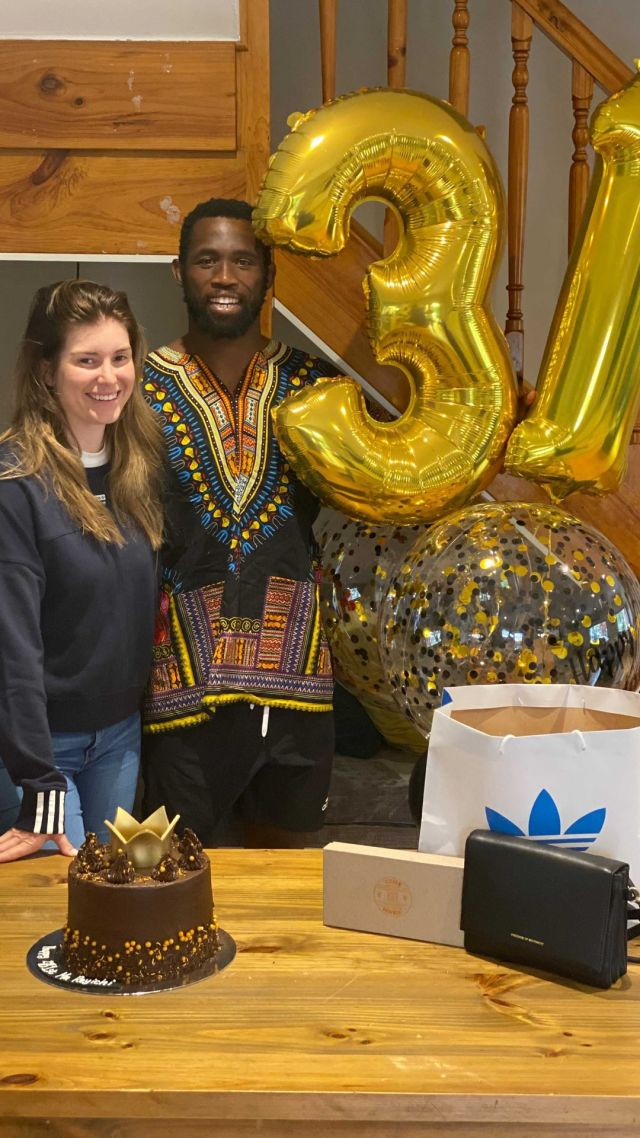 Siya Kolisi celebrates wife Rachel's birthday with a sweet message