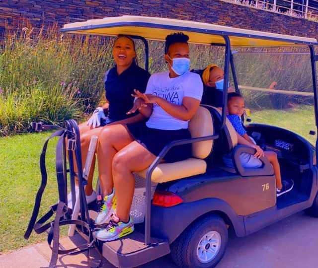 Watch: Influencer Zodwa Wabantu plays golf for the first time to promote her business