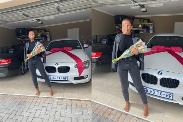 South Africans react to woman whose boyfriend surprised her with a new car