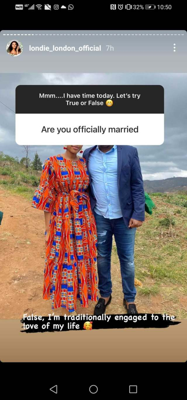 Londie London responds to rumours her Man is the baby daddy of Faith Nketsi's friend Kim Kholiwe