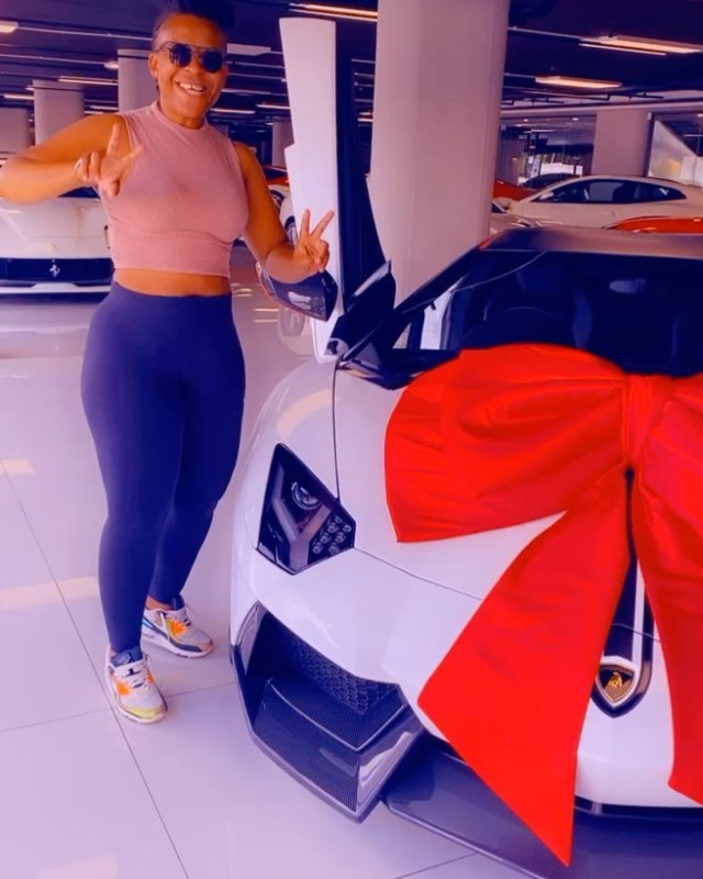 SARS targets Zodwa Wabantu after buying a Lamborghini