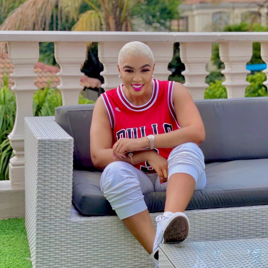 Mzansi Actress Ayanda Ncwane Rocks Chicago Bulls Jersey In Style