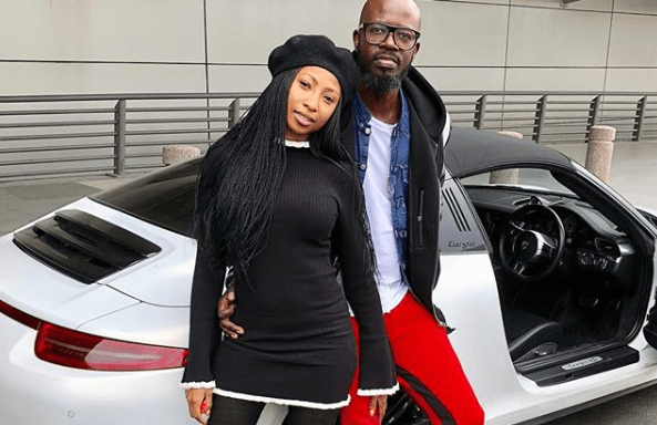 Actress Enhle Mbali rubbishes claims that she is back together with Black Coffee