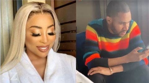 Khanyi Mbau all lovey-dovey with a Zimbabwean scammer