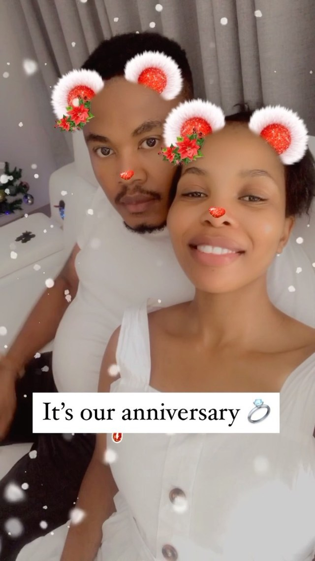Mmatema and husband Tshepo celebrate two years wedding anniversary
