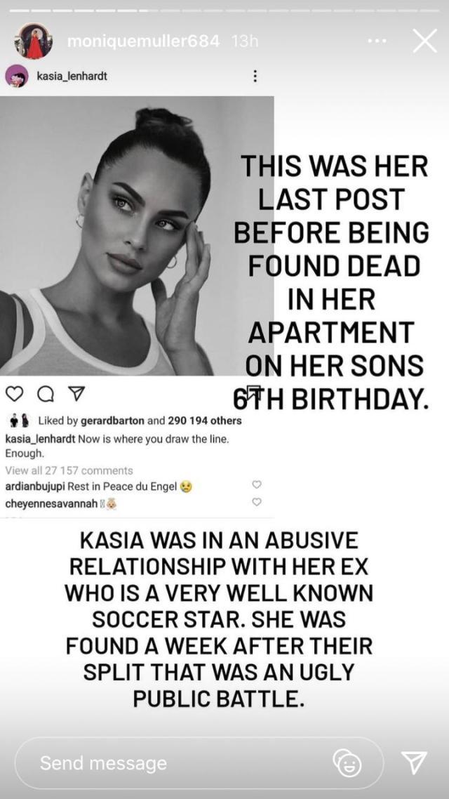 Katlego Maboe's ex-wife Monique Muller strikes again