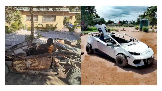 Mukundi Malovhele (21) builds his own 'Lamborghini'