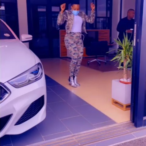 Watch: Nomcebo Zikode Bless Herself With A Brand New Car