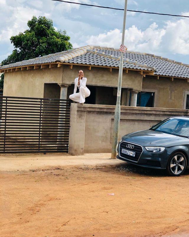 Pics: Ntando Duma builds her mother a house