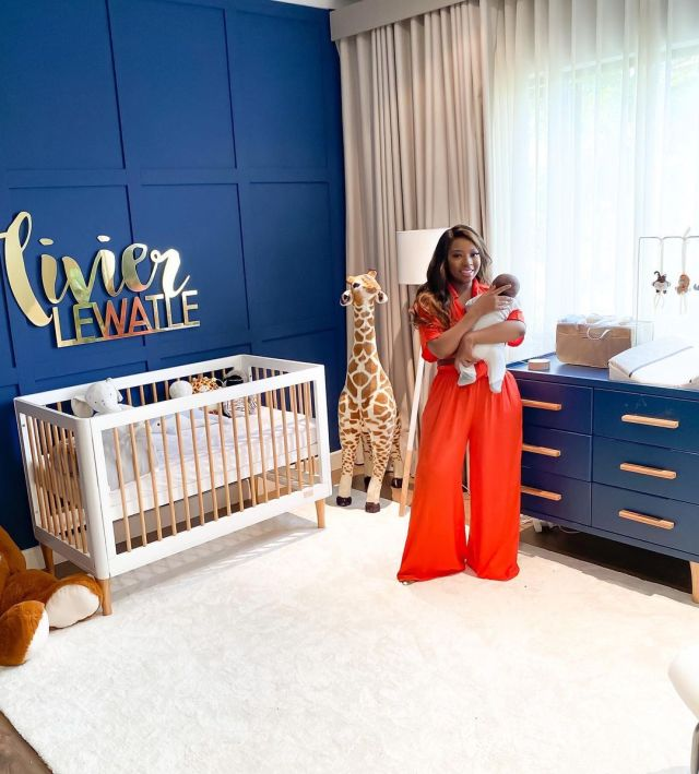Pearl Modiadie celebrates her son as he turns five months old