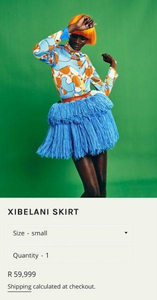 pics: Mzansi reacts to Rich Mnisi's R60k Tsonga xibelani skirt
