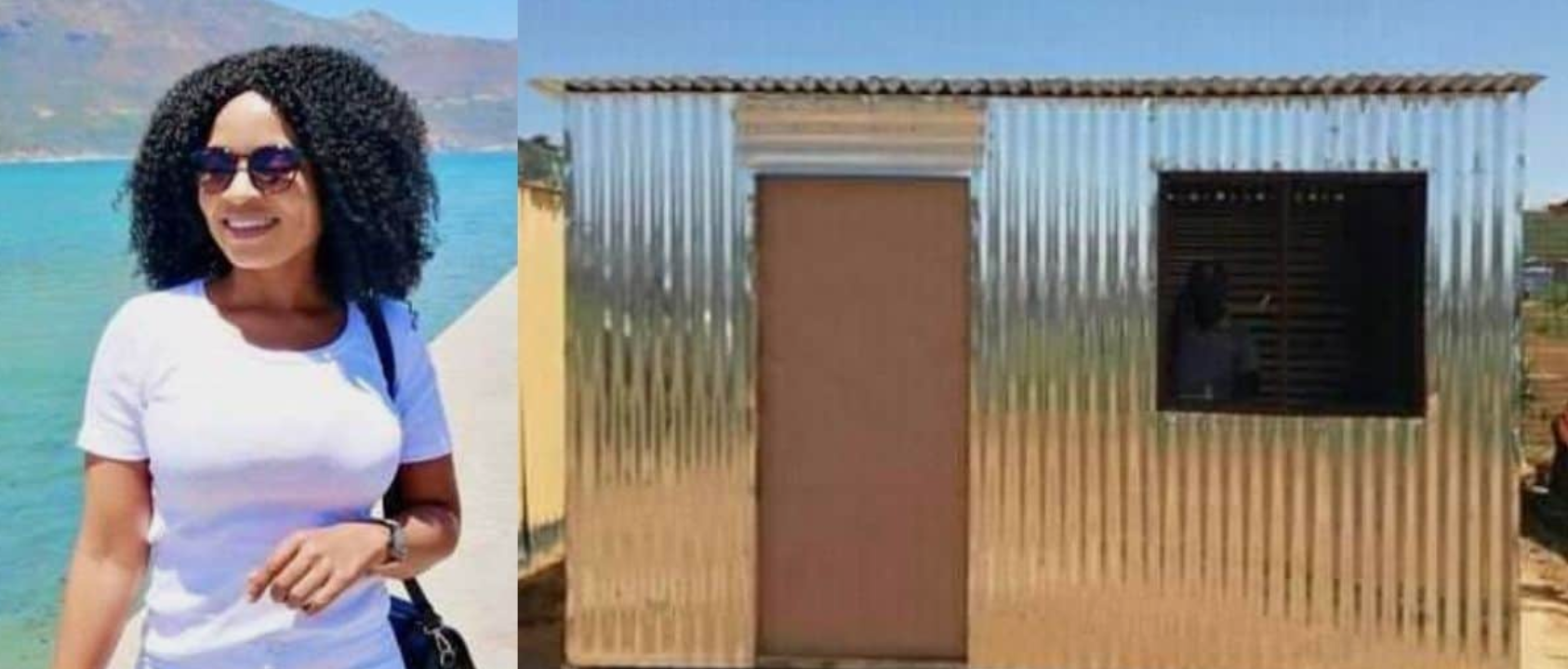 A South African Lady Trends On Twitter As Showing Off Her Newly Built House