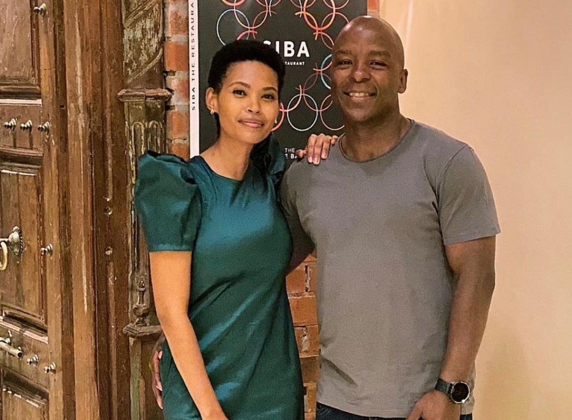 Gail Mabalane Shares Photos From Her Recent Outing With Her Husband