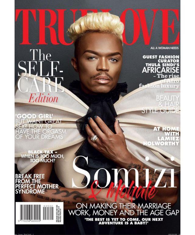 Somizi and Mohale cover TrueLove magazine