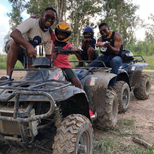 Watch: Actor Vuyo Dabula bonds with family as they go racing