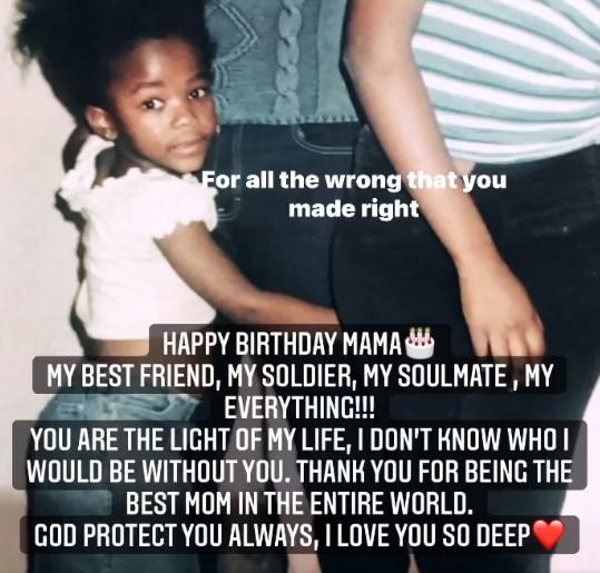 Ama Qamata celebrates her mom's birthday with a cute cute throwback photp