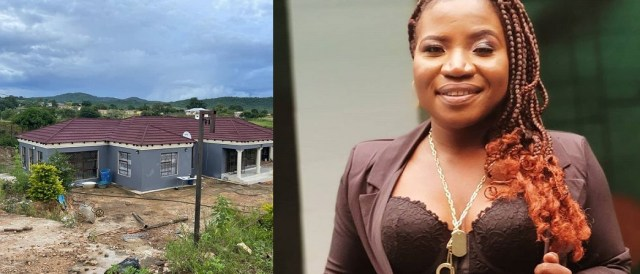 Makhadzi builds A Beautiful House For Her Mother