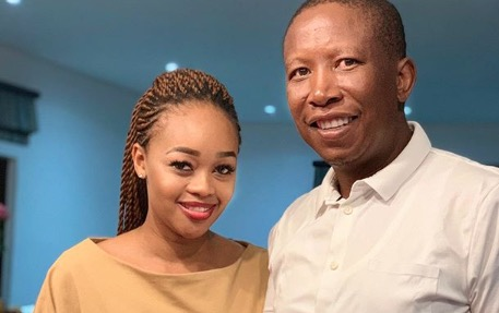 Julius Malema gushes over his 'black Valentine', and the streets can't deal