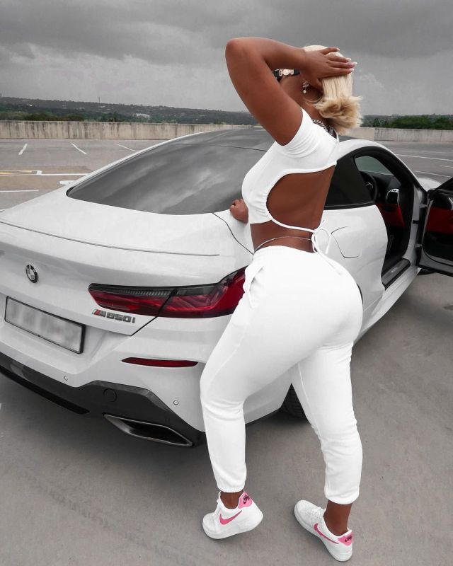 'Big B00TY Whip' – Buhle Sumuels Flaunts Her Brand New Car – Photos