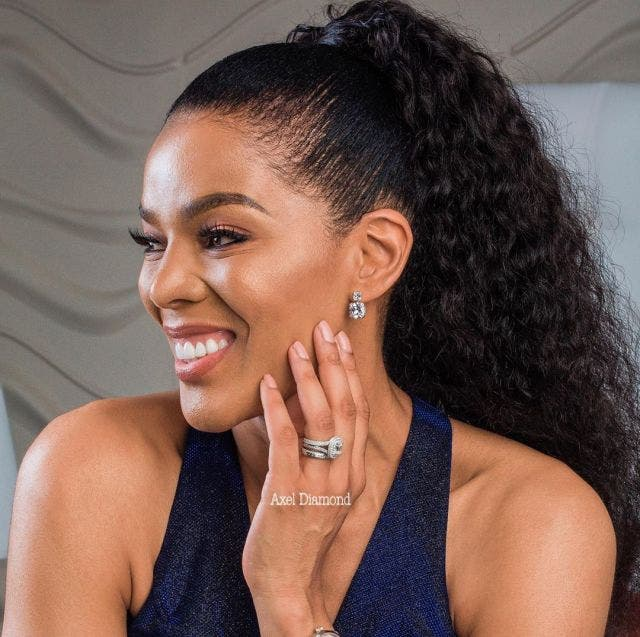 Connie Ferguson wows Fans with a black Dress revealing her beautiful legs – Photos
