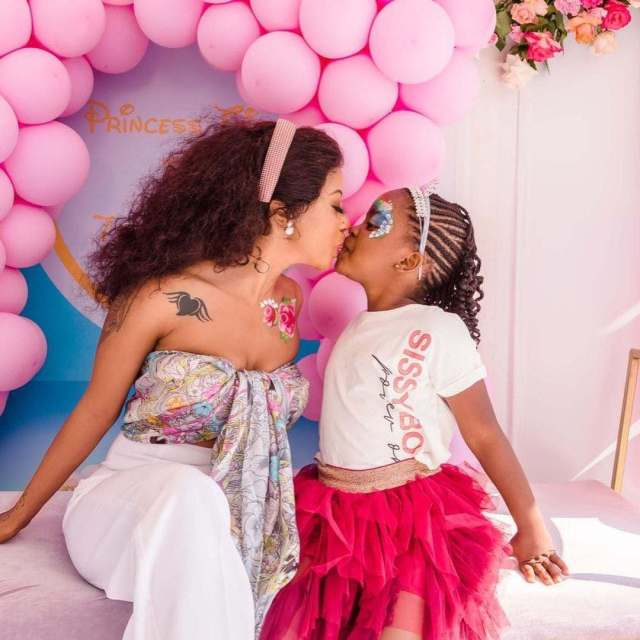 Inside Kelly Khumalo and Senzo Meyiswa's daughter Thingo's 7th Birthday Party