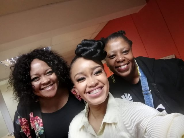 Actress Dineo Langa and mom feed artists protesting at NAC