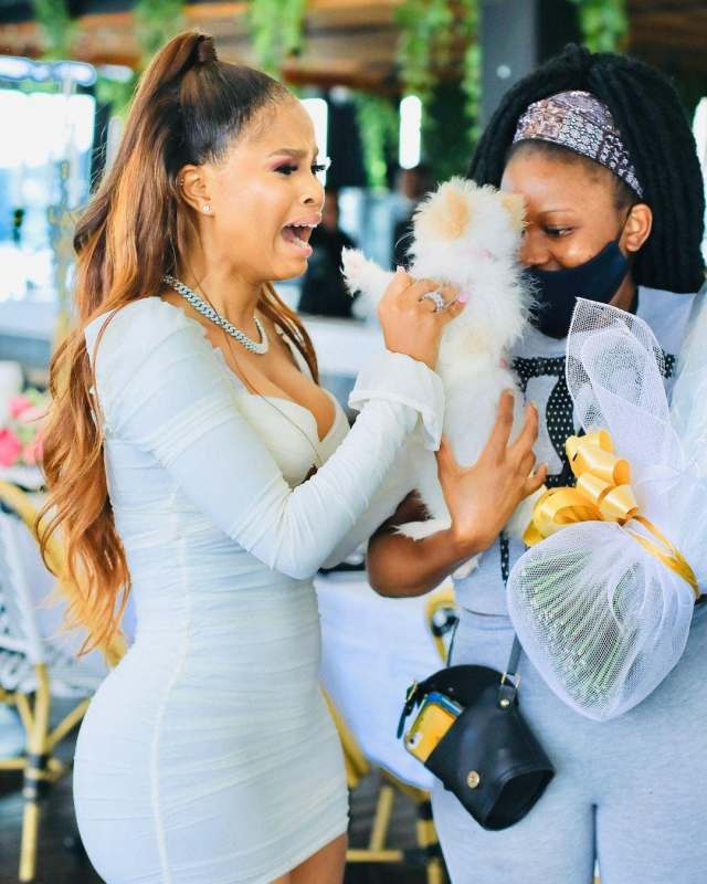 Watch: South African Actress Khanya Mkangisa burst into tears as she welcomes her new Baby
