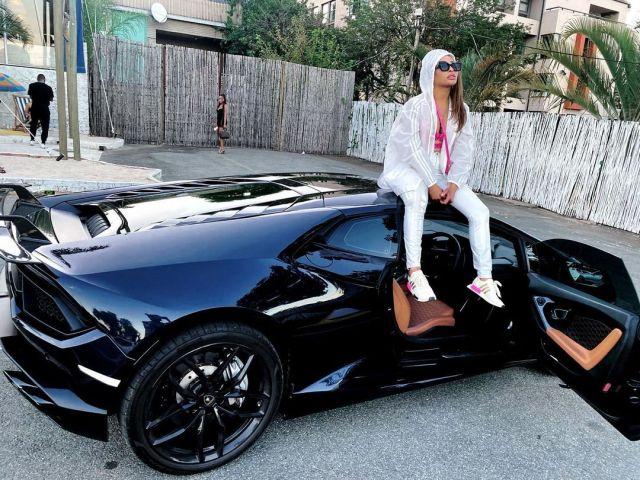 Khanyi Mbau flaunts her new million dollar Lamborghini