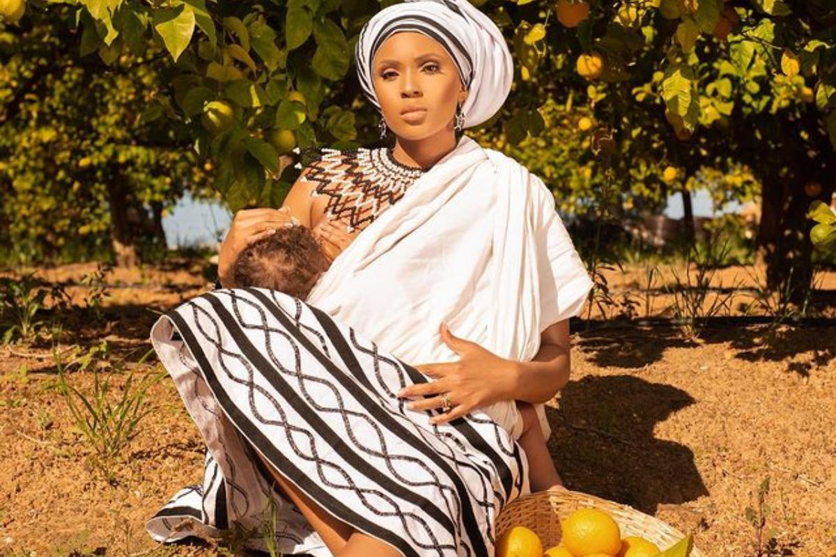 Mzansi Actress Linda Mtoba Shares Beautiful Traditional Photos Of Herself And Her Baby