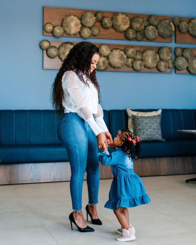 Mzansi celebrities serving cute mommy-daughter goals – Photos