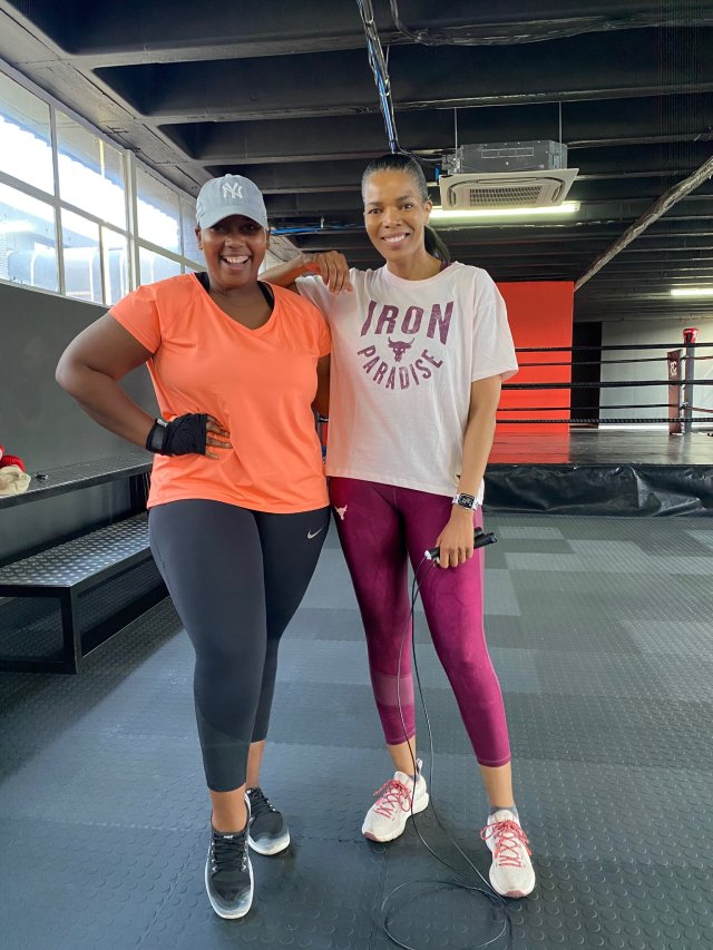 Laconco Gushes Her Over Gym Buddie Connie Ferguson