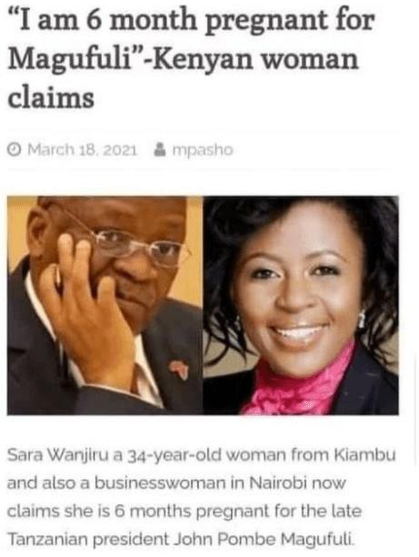 Basetsana Kumalo Debunks Fake News Of Being Pregnant For The Late Tanzanian President