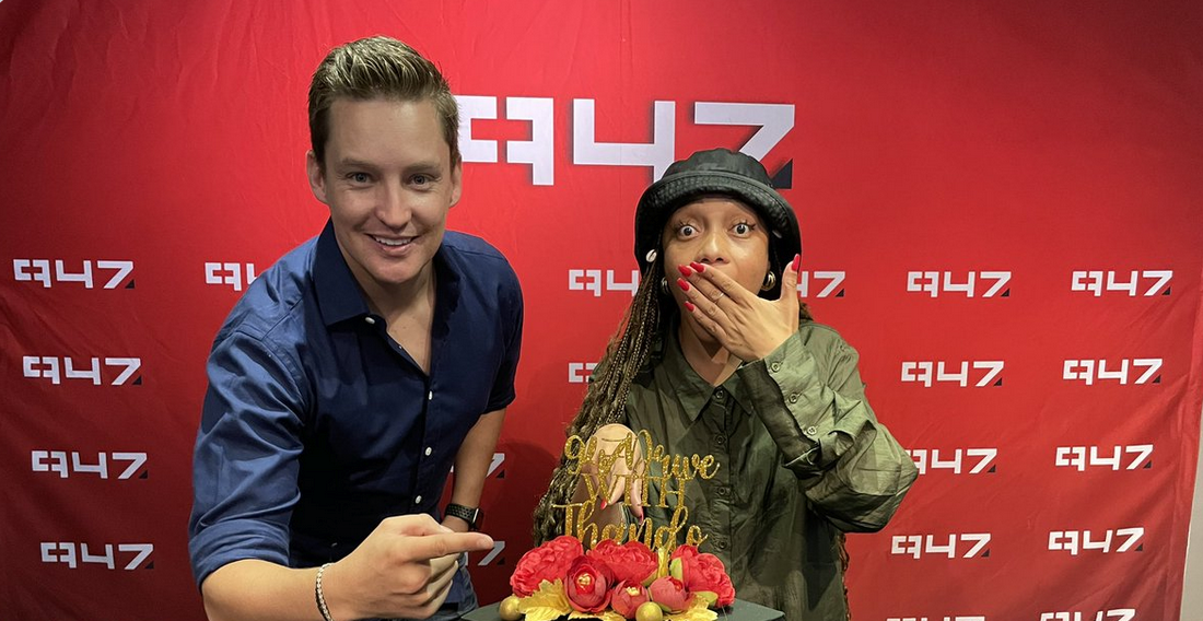Check Out The Incredible Cake Thando Thabethe As She Commenced Her New Role At 947 FM