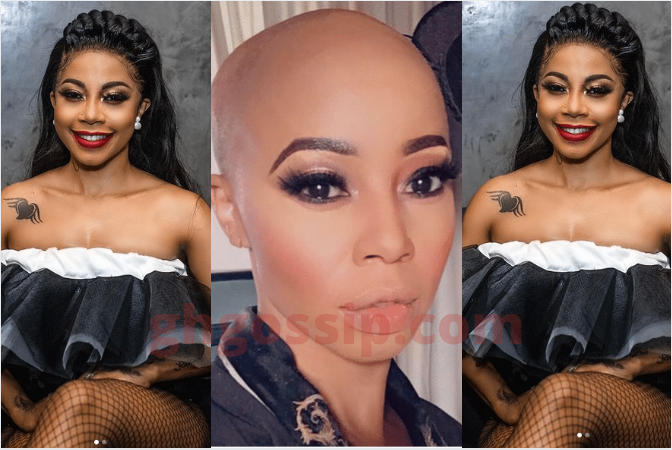 Kelly Khumalo Takes Off Wig And Flaunts Her Original Head Shape