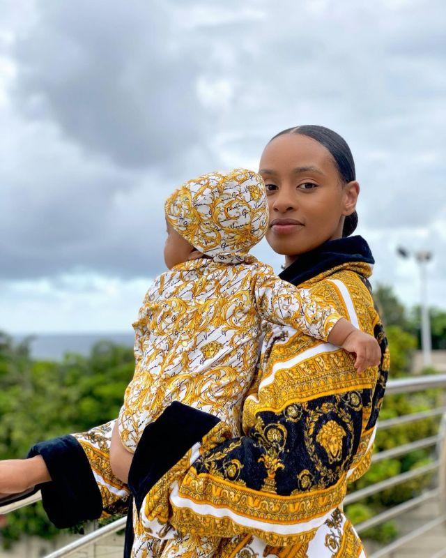 Thobeka Majozi celebrates as baby Khotso turns 6months old today
