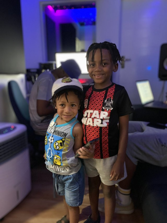 Emtee and sons hit the studio to perfect upcoming album