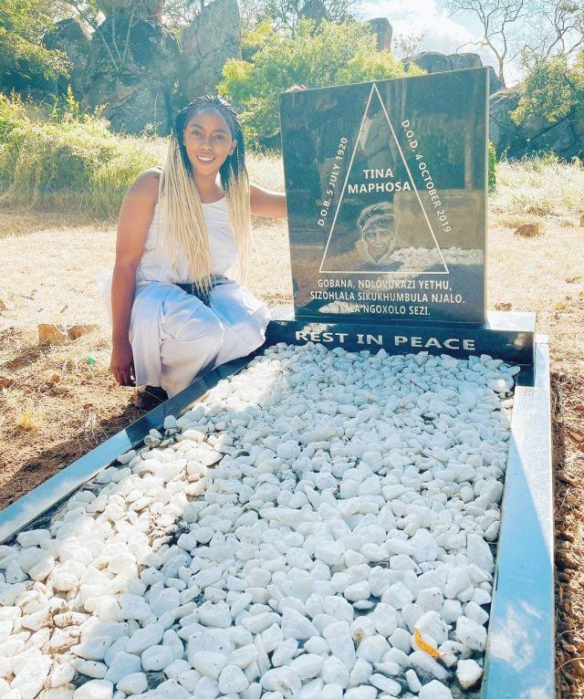 Gigi Lamayne pimps great grandmother's tombstone – Photos